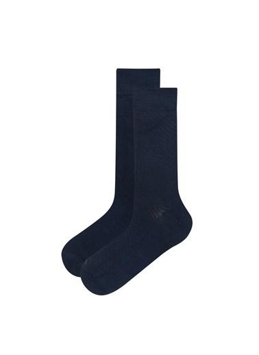 Penti Lacivert Erkek Bambu Klasık 2Li Soket Çorap Mavi